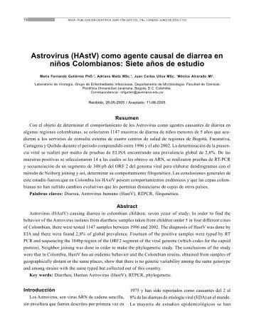 Astrovirus (HAstV) como agente causal de diarrea en niños ...