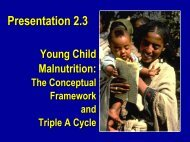 Conceptual framework malnutrition - Linkages Project
