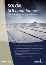 SOLON SOLbond Integra. - Baumann-solartechnik.de