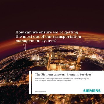 Services Brochure - Siemens