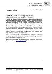 20 Landeslisten in Bayern zur Bundestagswahl ... - Wahlen - Bayern