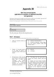 ASX Listing Rules Appendix 3B - New Issue ... - Linc Energy