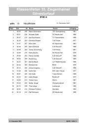 Klassenlisten 35. Ziegenhainer Silvesterlauf