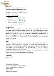 Gesundheitsverhalten der Schüler_innen - Gemeinsam gesunde ...