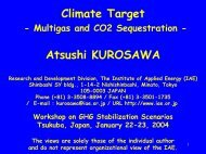 Climate Target - Multigasand CO2 Sequestration