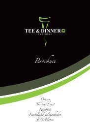 Tee&Dinner. - Rinkven Golf Club