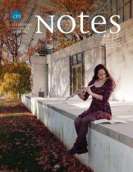 CIM Notes - Cleveland Institute of Music