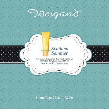 Schönen Sommer - Parfümerie Weigand