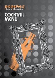 COCKTAIL MENU - Peaches Bar