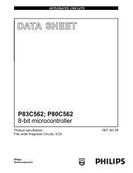 P83C562; P80C562 8-bit microcontroller