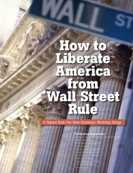 How to Liberate America from Wall Street Rule - Institute for Policy ...