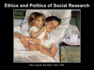 Power Point - Ethics and Politics of Social Research