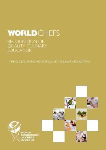 WACS Recognition of Quality Culinary Education Application form