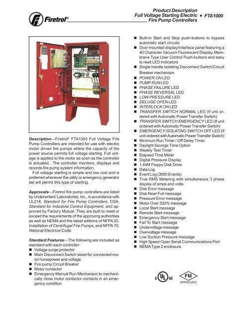 Fta1000 - Peerless Pump