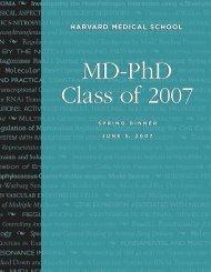 2007 Class Book - Harvard Medical School