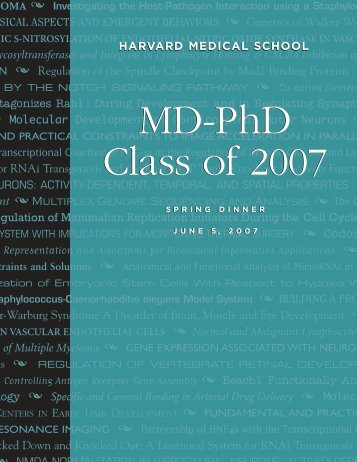 2007 Class Book - Harvard Medical School