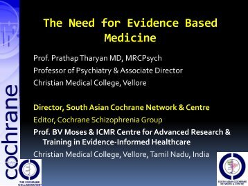 systematic reviews, meta-analysis & evidence based medicine