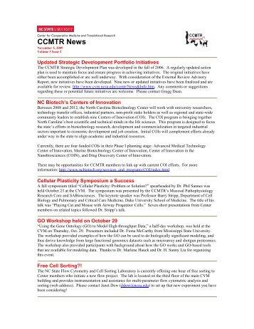 Volume 3, Issue 2 - North Carolina State University College of ...