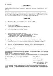 Protokoll vom 25. Mai 2011 - Grellingen