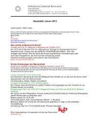 Katholisches Dekanat Rems-Murr Newsletter Januar 2013