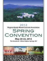 SPRING CONVENTION - Virginia Ready-Mixed Concrete Association