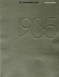 1985 Motorola Annual Report - Motorola Solutions