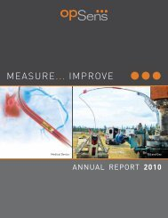 Annual Report 2010 - Opsens