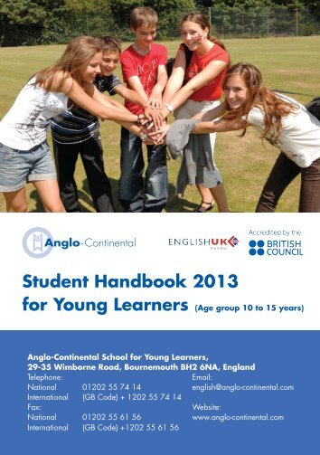 Student Handbook for Young Learners - Anglo-Continental