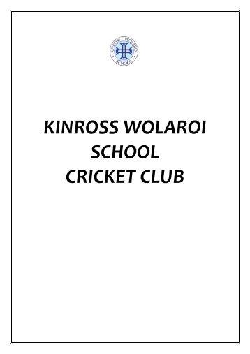 KWS Cricket Club Guidelines - Kinross Wolaroi School