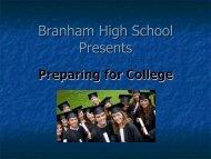 Score - Branham High School