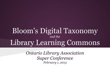 Bloom's Digital Taxonomy Library Learning Commons - Accessola2