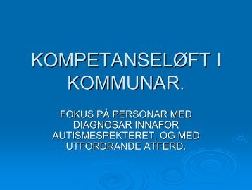 Jan O Ødven - Kompetanseløft i kommunar - Helse Førde