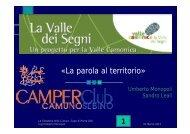 Scarica la presentazione in formato pdf - Valle Camonica Distretto ...