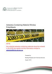 Asbestos-containing material: window putty / mastic compounds