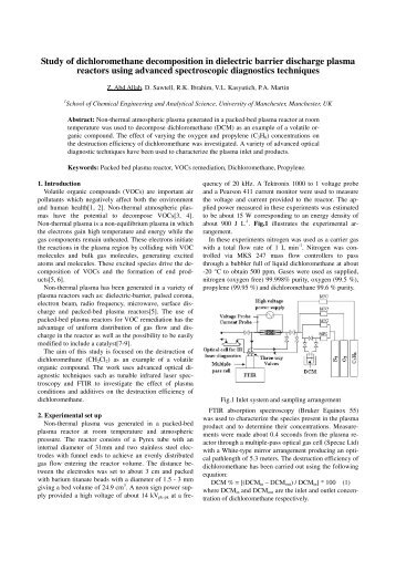 Study of dichloromethane decomposition in dielectric barrier ...