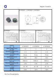 Magnetic Transducer Win Trust Through Quality ... - DAU Components