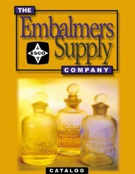 Executive Offices - Embalming Supply Company