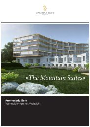 «The Mountain Suites» - Fontana Immobilien
