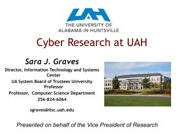 Cyber Research at UAH - University of Alabama System