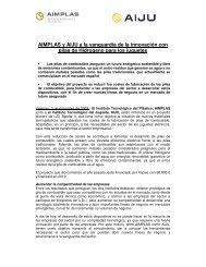 AIMPLAS y AIJU a la vanguardia de la innovación con pilas de ...