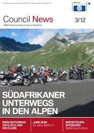 Council News 3/12 - BMW Clubs