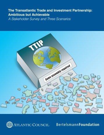 The Transatlantic Trade and Investment Partnership - Bertelsmann ...