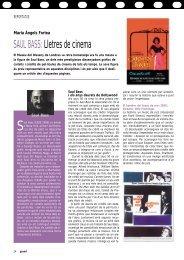 SAUL BASS: Lletres de cinema