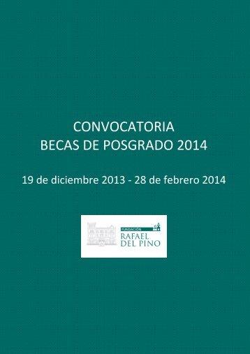 CONVOCATORIA BECAS DE POSGRADO 2014