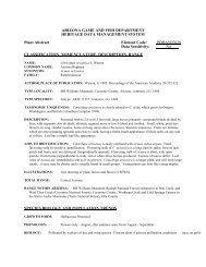 ARIZONA GAME AND FISH  DEPARTMENT HERITAGE DATA ...