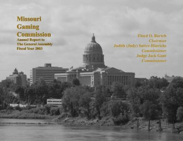 Cover & Table of Contents - Missouri Gaming Commission