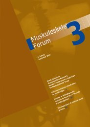 Muskuloskeletalt Forum - 3/2004 (pdf) - Fagforum for ...