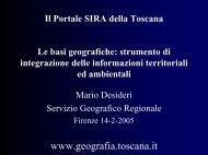 Desideri: Le basi geografiche - SIRA - Arpat