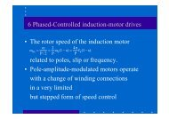 Phase-controlled induction motor drives