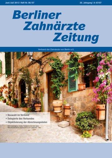 BZZ_2013_06/07 - Verband der Zahnärzte von Berlin
